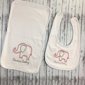 Other - Alabama sketch design bib and burp cloth